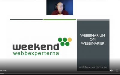 Webbinarium om webbinarieverktyg